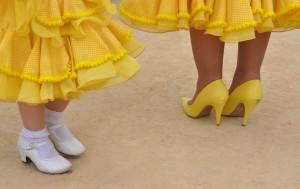 gele jurkjes